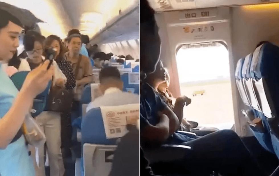 """Video viral: Abrió la puerta de emergencias del avión porque quería """"aire fresco"""""""