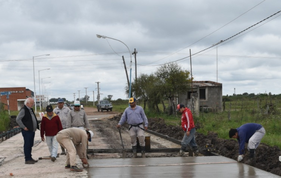 Goya: Avanzan las obras de pavimentación en diferentes barrios