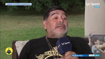 La picante gastada de Maradona a Caniggia sobre sus hijos