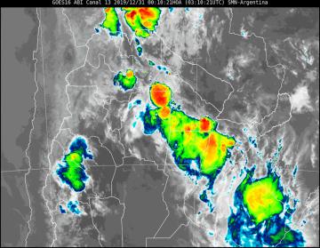Pronóstico: Rige alerta meteorológico por tormentas fuertes para Corrientes