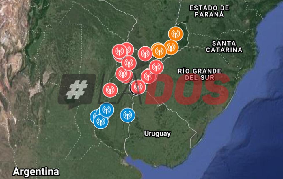 Mapa interactivo: Radares homologados en las rutas 12 y 14 en Corrientes, Entre Rios y Misiones