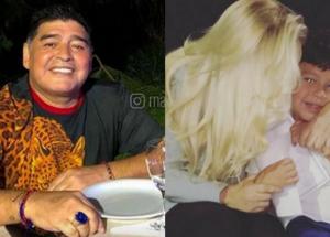 La foto familiar de Maradona con un mensaje especial a Dieguito Fernando