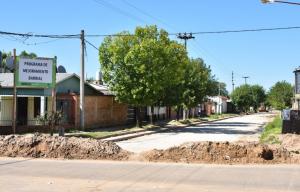 Se terminó de pavimentar 500 metros de la calle Turín en el barrio Pirayui