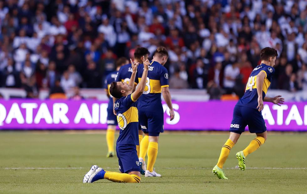 Copa Libertadores: Boca goleó 3 - 0 a Liga de Quito en la ida en Cuartos