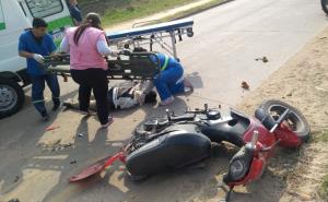 Internan a un motociclista que cayó en Alta Gracia al 2300: Habría conducido ebrio