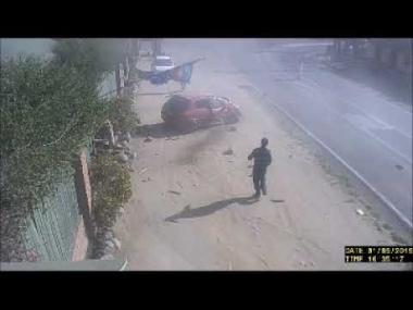 Hombre salva de milagro de ser atropellado en Olmué