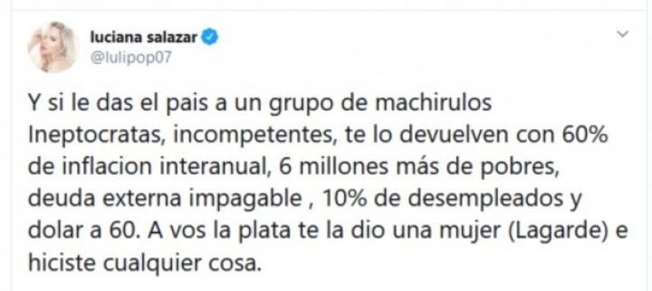 La Contundente Respuesta De Luciana Salazar A La Frase