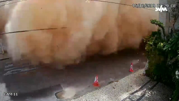 Novo vídeo mostra prédio caindo sobre três pessoas em Fortaleza