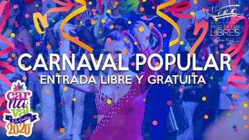 Paso de los Libres: Con entrada libre y gratuita comienza este viernes el Carnaval Popular
