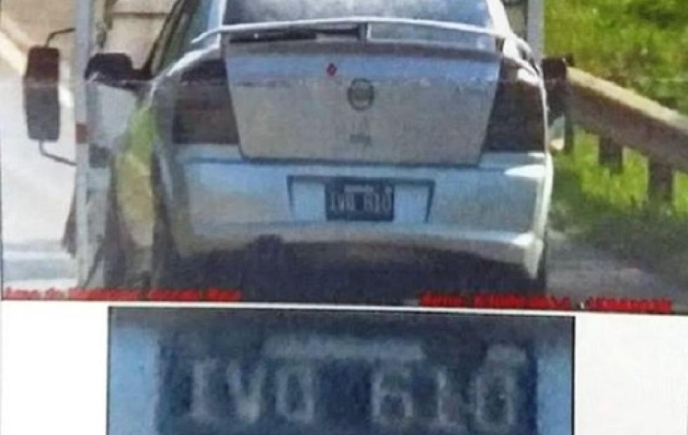 Insólito caso sobre Ruta 12: el auto iba en una grúa y lo multaron por exceso de velocidad