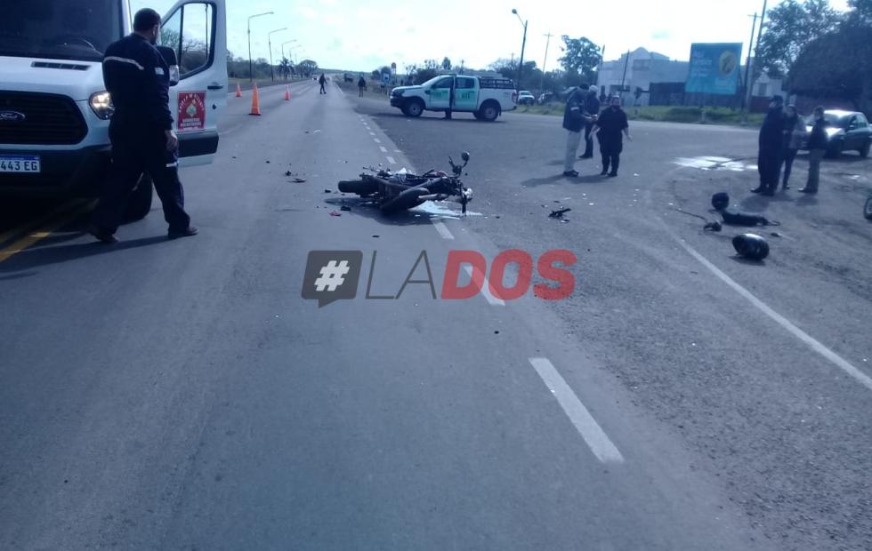 Ruta 12: Un muerto y un herido gravísimo en el acceso de San Roque