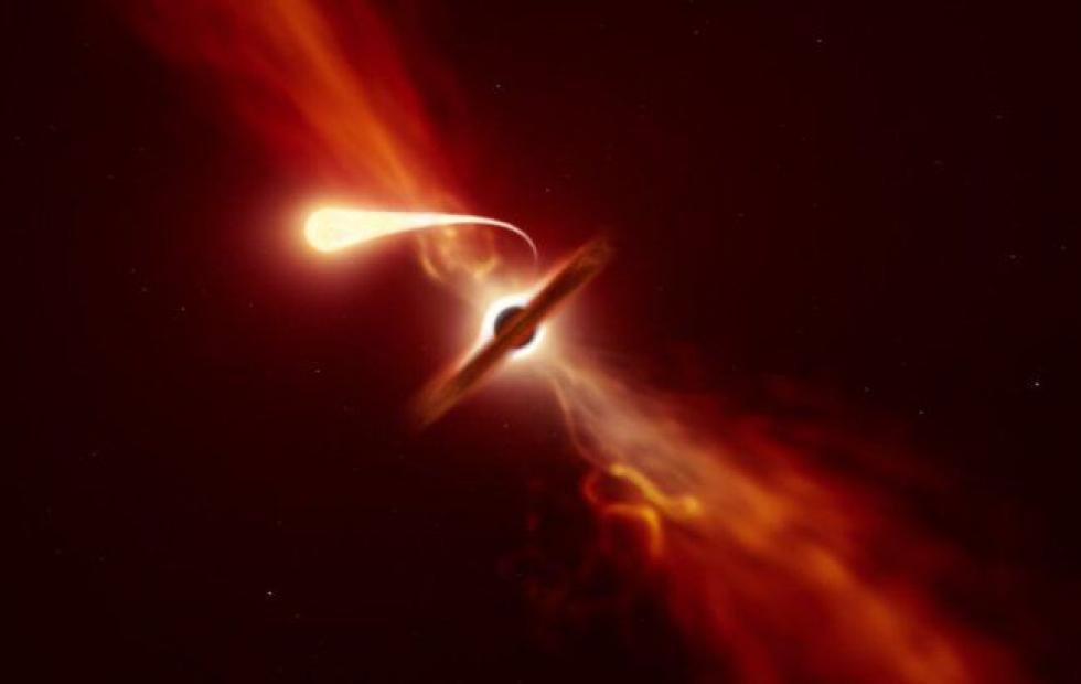 El momento en el que un agujero negro supermasivo devoró a una estrella cercana