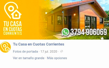 estafa casas Corrientes