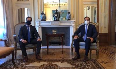 El gobernador Gustavo Valdés se reunió con el presidente de Uruguay