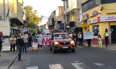 En Corrientes, se realizó una marcha en repudio al maltrato animal