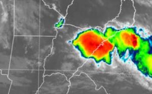 Renuevan hasta el mediodia el alerta para el centro y sur de la provincia por tormentas