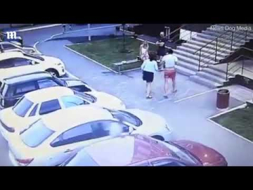 CCTV footage shows tough guy knocking out assailant who stabbed him