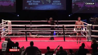 Complètement KO, il quitte le ring pensant avoir gagné le combat !(Hakim Ketaieb vs José Maria