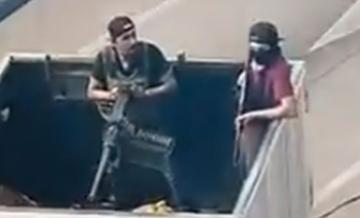 La imponente ametralladora que utilizó en una balacera el Cártel de Sinaloa