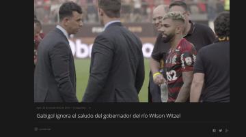 """Viedo viral: El gobernador de Rio se arrodilló ante""""Gabigol"""" tras la victoria de Flamengo"""
