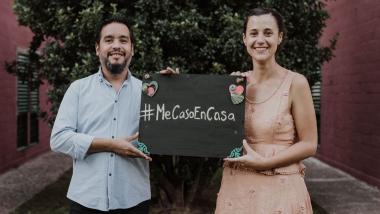 ME CASO EN CASA 💍 Diego y Sofi: una BODA VIRAL en tiempos de CORONA VIRUS / COVID-19 😷