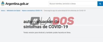 """Hacé el """"autotest"""" online de coronavirus lanzado este mediodía por el Gobierno Nacional"""