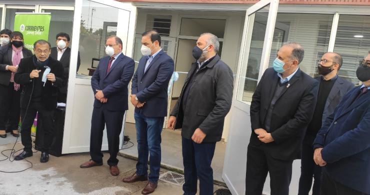 Gustavo Valdés inauguró Servicio de Diálisis para Covid 19 y adelantó que en las próximas horas tendrá su primer paciente